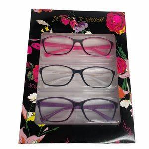 Betsey Johnson 3 Pack Reading Glasses +1.50